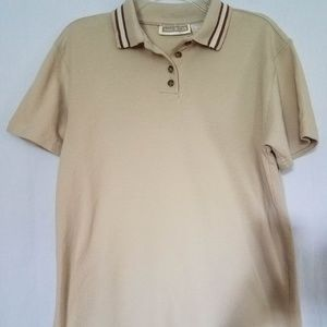 Maurices Womens Shirt Polo Top 100% Cotton Beige